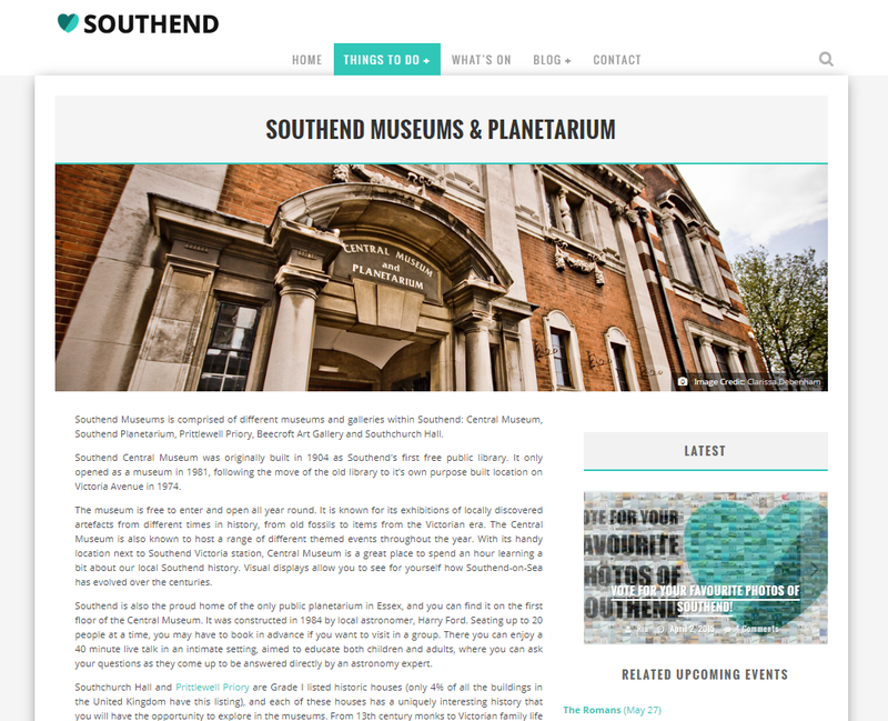 Love Southend landing pages